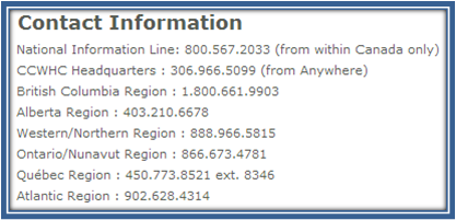 CCWHC Contact Information