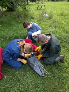 Rodent bags are used to keep animals calm while taking samples.